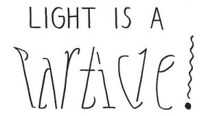Dualidad onda corpúsculo en un ambigrama