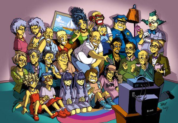 The Simpsonzu, por spacecoyote en Deviantart