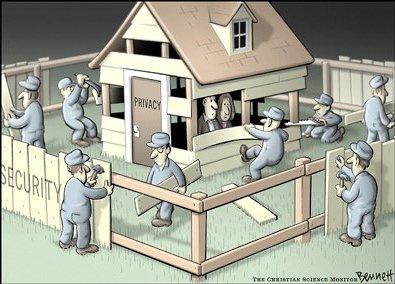Seguridad vs Privacidad, por Clay Bennett