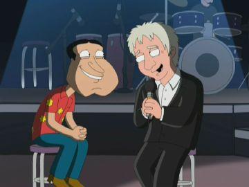 Quagmire y Barry Manilow se encuentran en un concierto