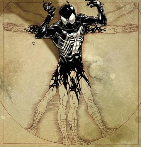 Venom, sobre el Vitruvio de Spiderman