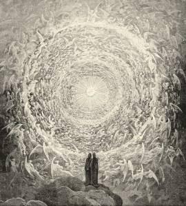 Dante y Beatrice miran hacia el más alto Cielo, de Gustave Doré.