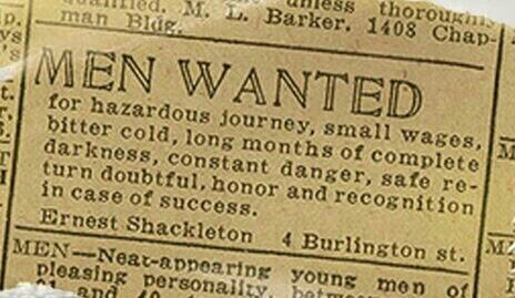 Anuncio de Shackleton